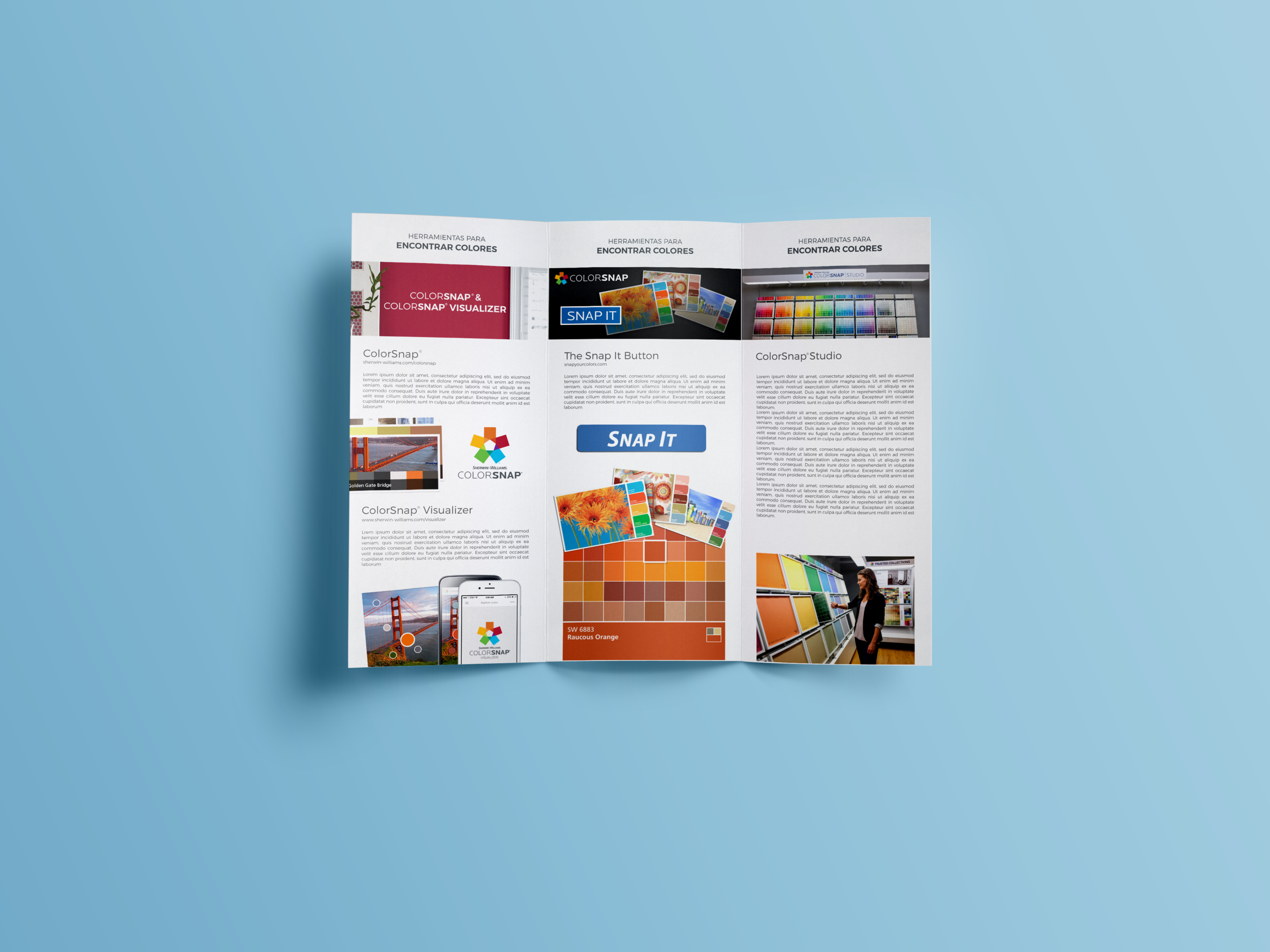 ColorSnap App for Sherwin Williams   Brochure and Design