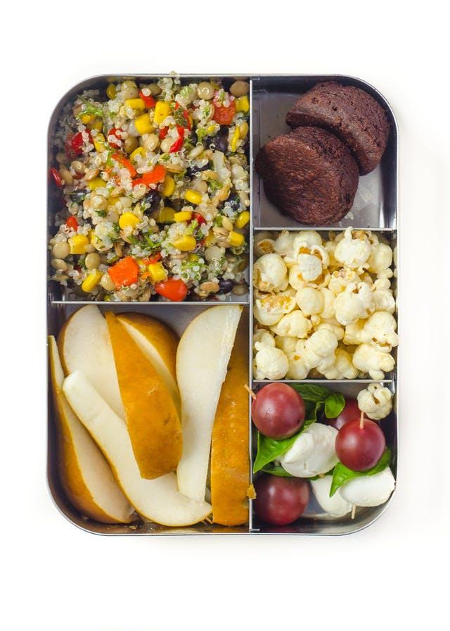vegetarian bento box lunch for kids quinoa and lentil salad.jpg