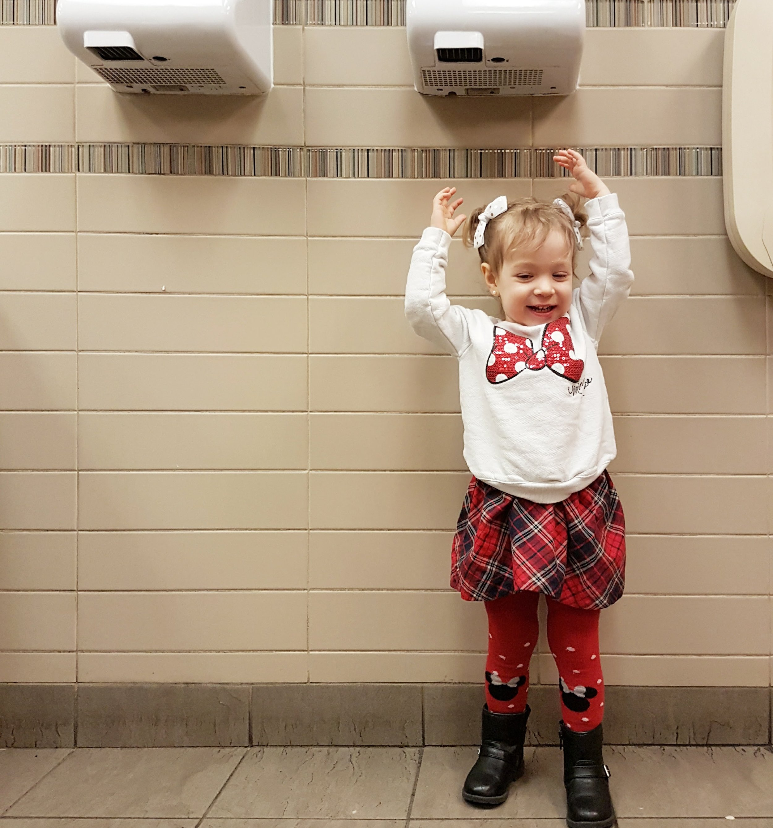 how to get toddler over her hand dryer fear.jpg