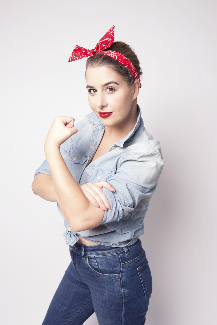 easy halloween costume rosie the riveter