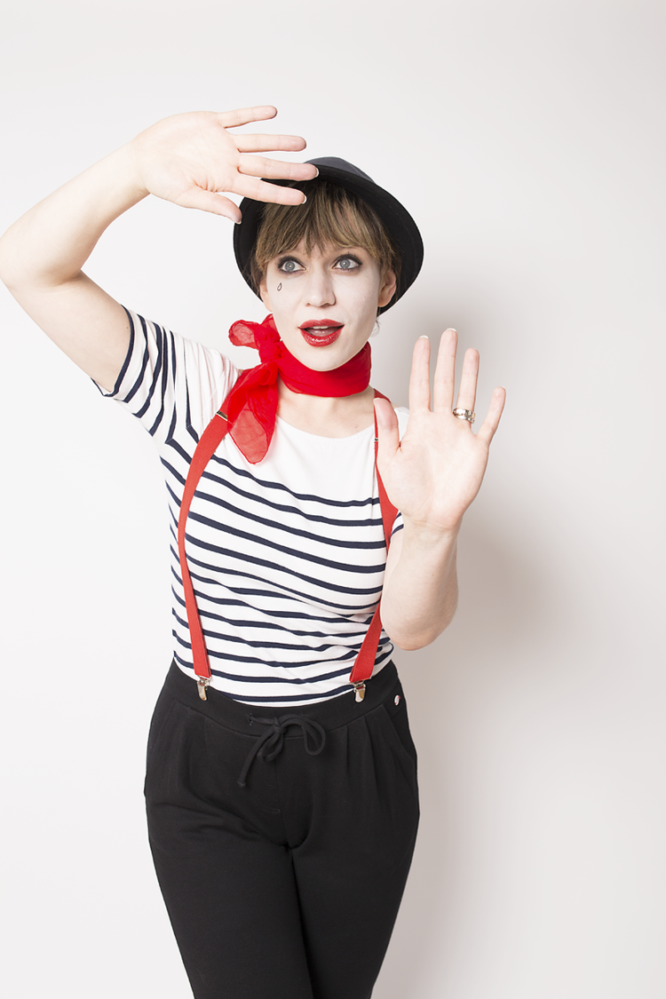 easy halloween costume mime