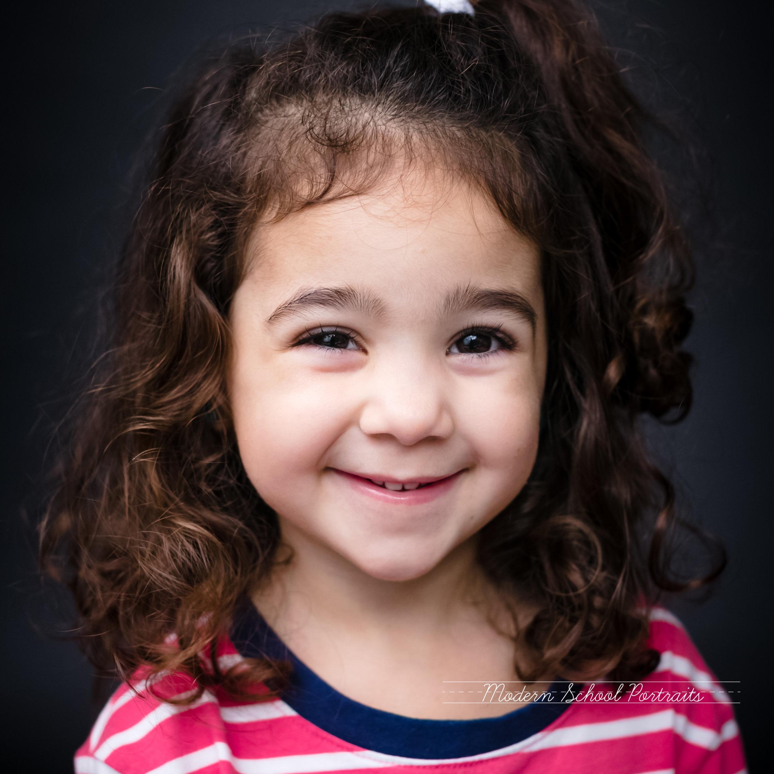 CHICAGO MODERN SCHOOL PORTRAITS PRESCHOOL HISPANIC TODDLER CURLY HAIR GIRL FINE ART PICTURE DAY.jpg