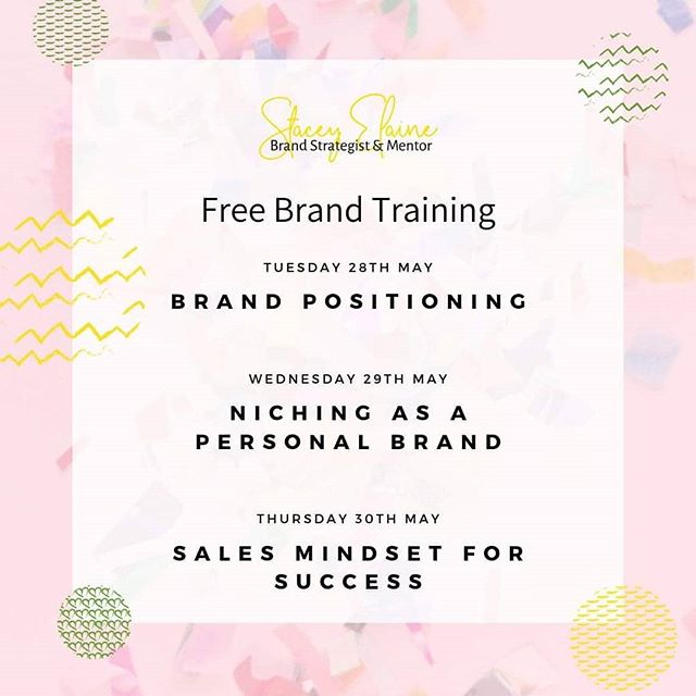 🔥 FREE BRAND TRAINING FOR PERSONAL BRANDS 🔥  Come join me for some epic free training on how to UPLEVEL your personal brand! 🎉🎉 This live training series will help you: 💖 Position yourself as a LEADER 💖 Attract your DREAM SOUL MATE clients 💖 Uplevel your SALES game to crack open wealth creation  It's time to create clarity on your brand so you can show up POWERFULLY, with a magnetic message that converts!  This 3 day event is LIVE, so you'll also get access to me get your questions in - aka FREE BRAND COACHING.  Plus it includes a free copy of my brand plan workbook, so that you can dive deep on the strategy behind your brand.  You ready??? Click on the link in my bio to sign up!  #womenwhoconquer #womenwhodo #bossbabemovement #sheeo #herbusiness #gogettergirl #shewins #9tothrive #buildyourtribe #girlsbuildingempires #fempire #bossbabelife #startupwomen #brandstrategy #businesscoach #brandelevation
