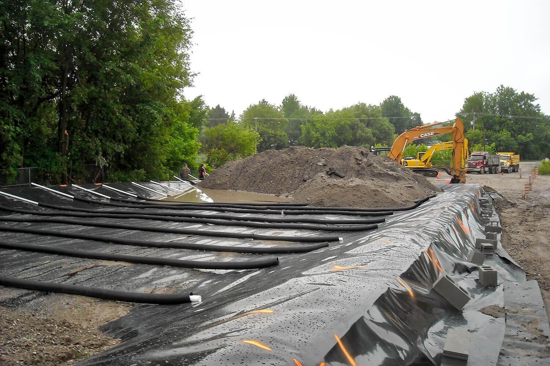 Réhabilitation environnementale des sols par traitement ex situ d'un ancien dépôt pétrolier à Papineauville