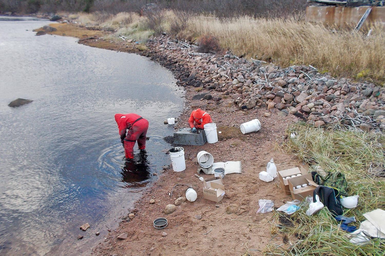 Caractérisation environnementale de sédiments et autres médiums autour du quai désaffecté de l'île des Esquimaux dans la baie de Bonne-Espérance du golfe du Saint-Laurent