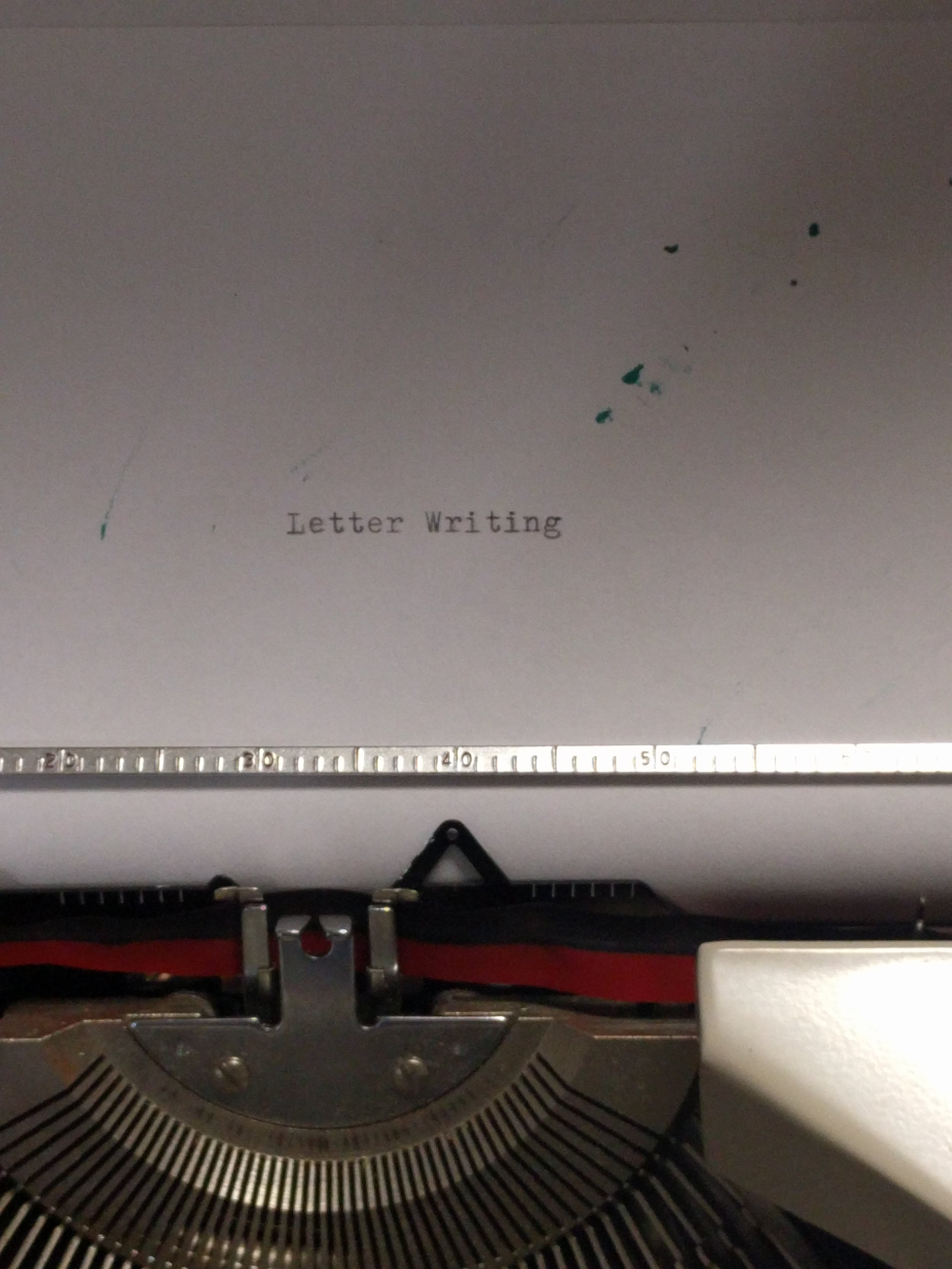 Typewritten letters are available