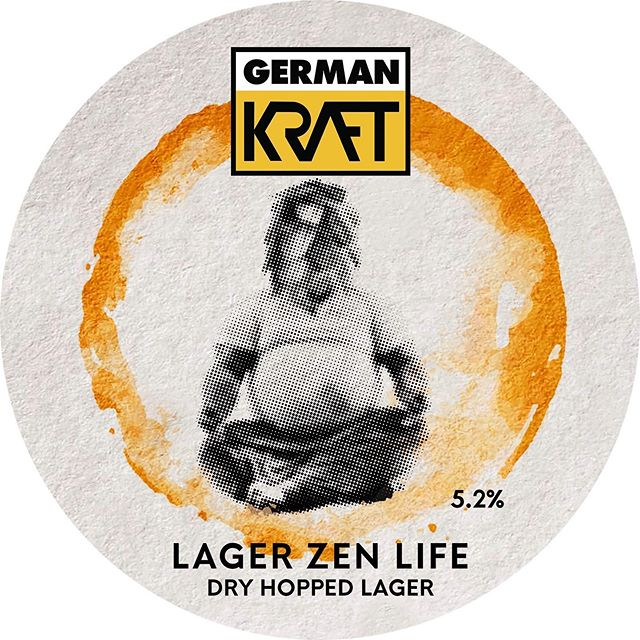 """🚨NEW BEER ALERT🚨 """"Lager zen life"""" - A hoppy lager, dry hopped with Mandarina Bavaria giving it hints of  orange peel. Polaris as bittering hops create a hoppy dry finish. 🧘♂️ Available fresh from the tank in our taproom & Brewgarden today 🧘♂️"""