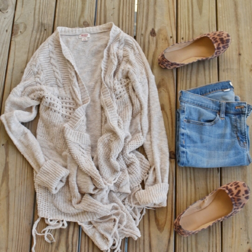 leopard flats outfit