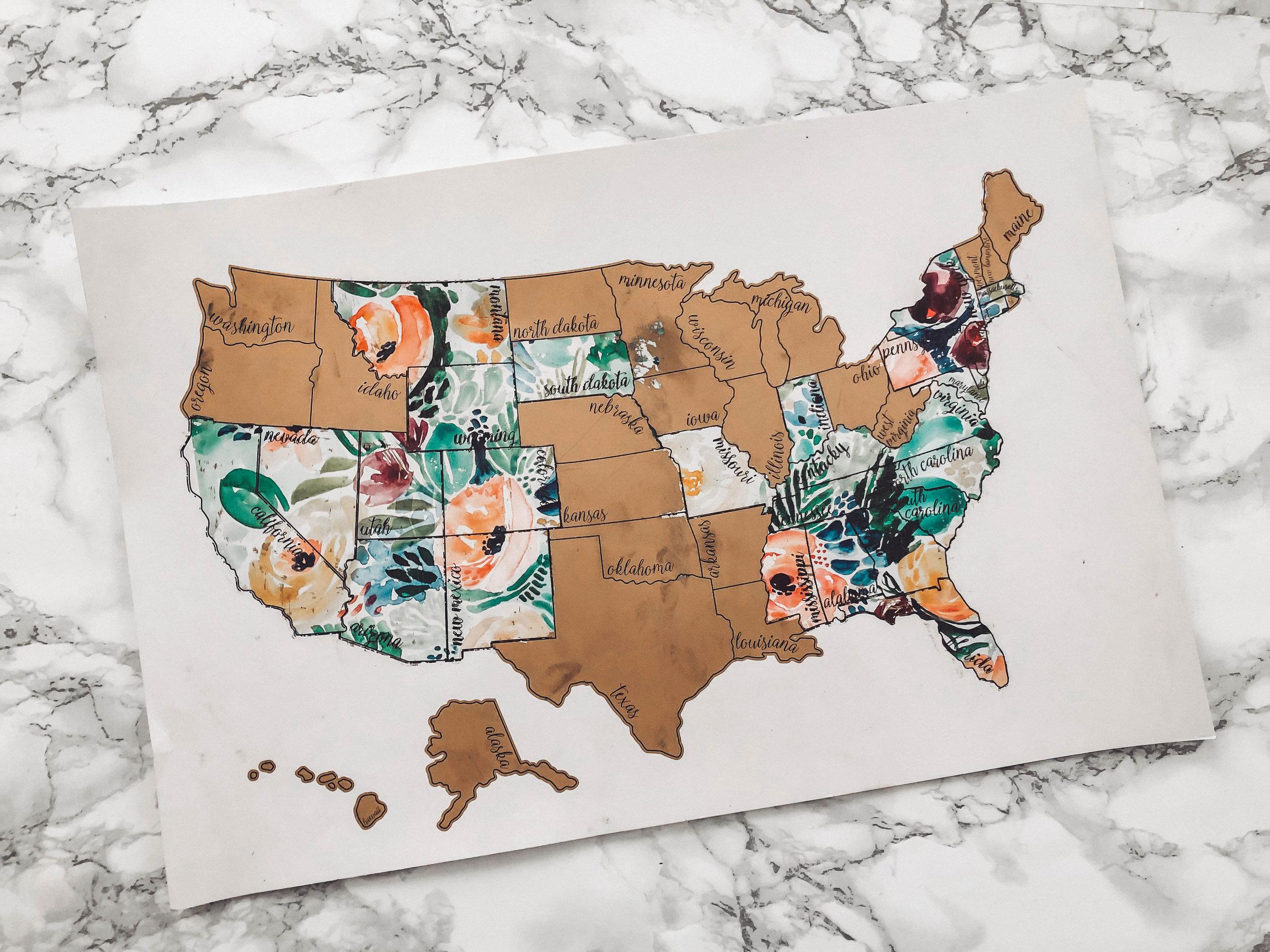 US Scratch Off Map