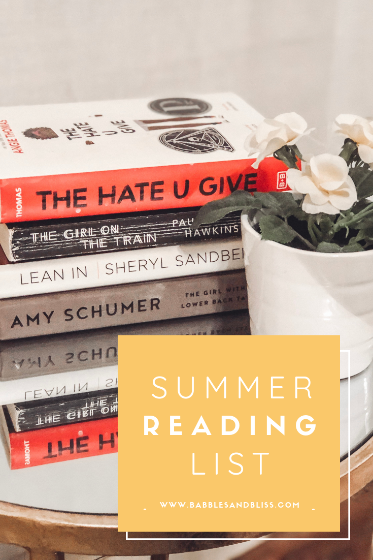 Summer Reading List - Blog Post by Babbles & Bliss