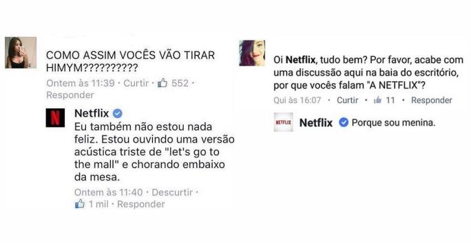 Netflix é um excelente exemplo do uso efetivo de uma comunicação coesa e acessível.