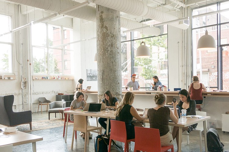 Bryan Boyer was cofounder of Makeshift Society (above), a Brooklyn coworking space.