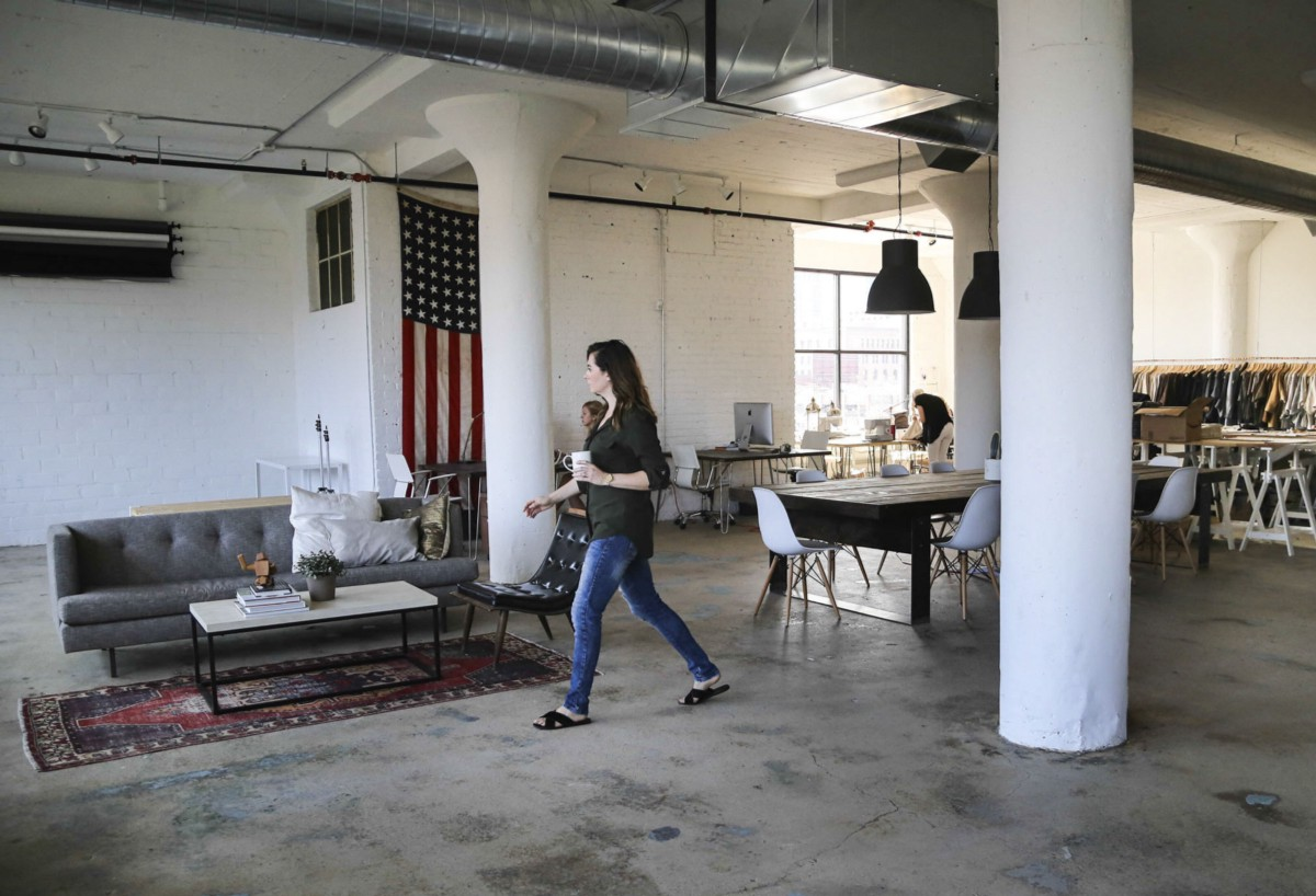 Kate Arends of Wit & Delight at the COMN, a Minneapolis DIY Coworking space.