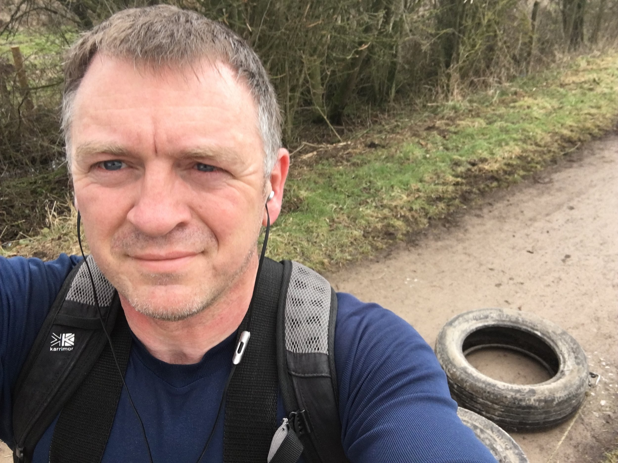 Dragging tyres up and down hills is a great way to become accustomed to working in a harness, but is my least favourite way of getting fit.