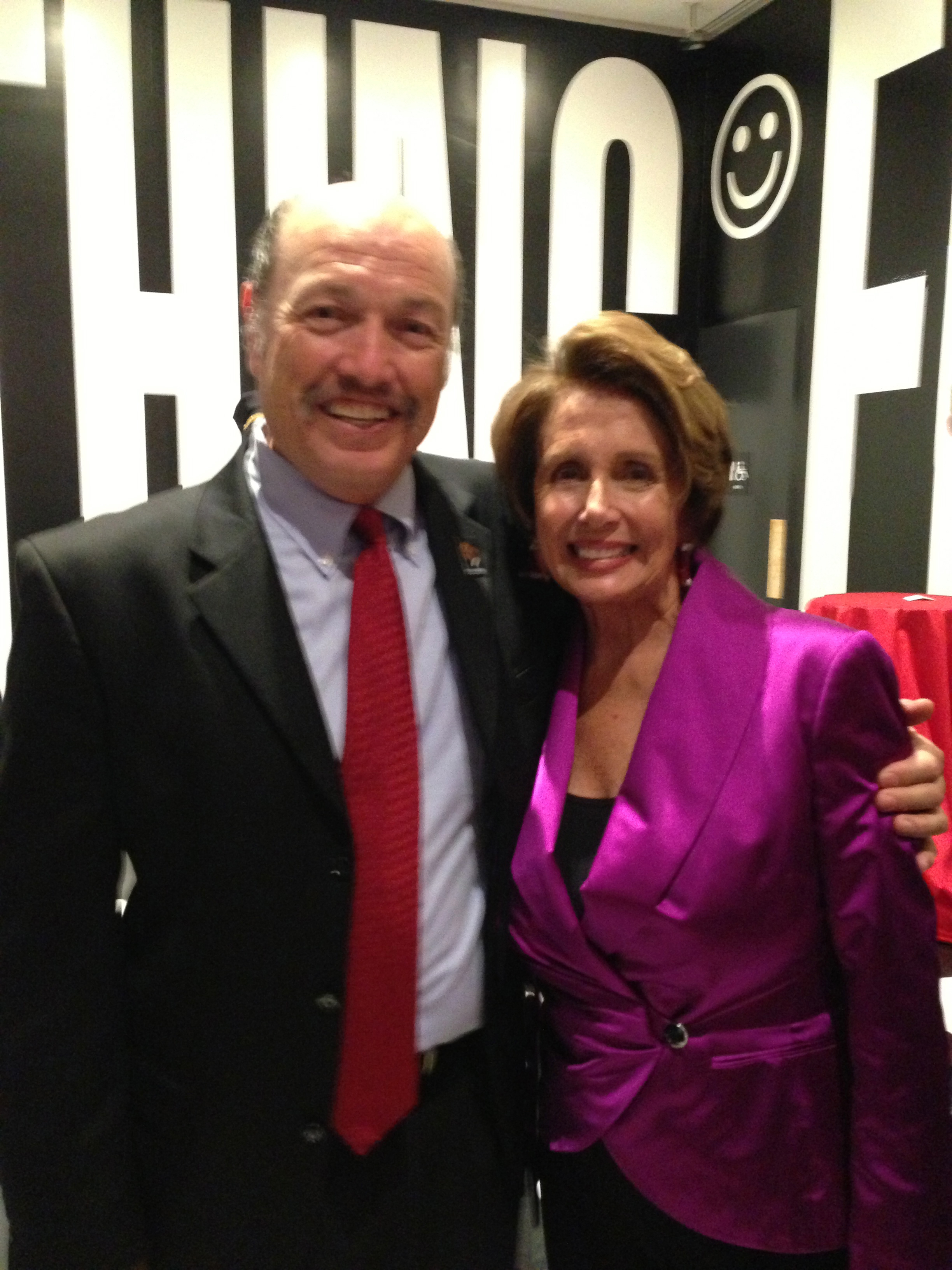 Tony with former Speaker of the House Nancy Pelosi