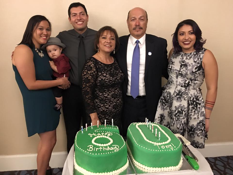 Tony and his family