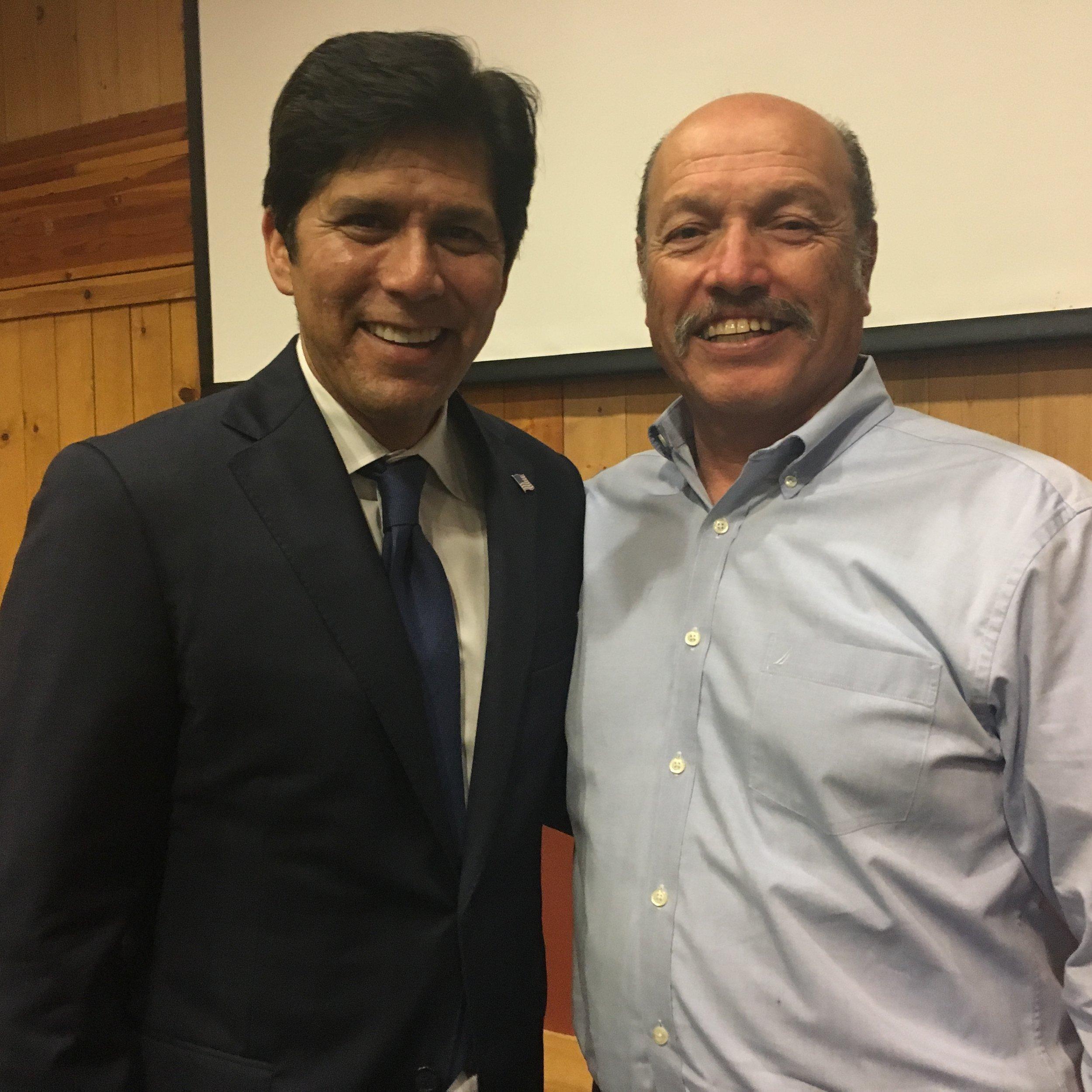 Tony with President pro Tempore of the California State Senate Kevin de Leon