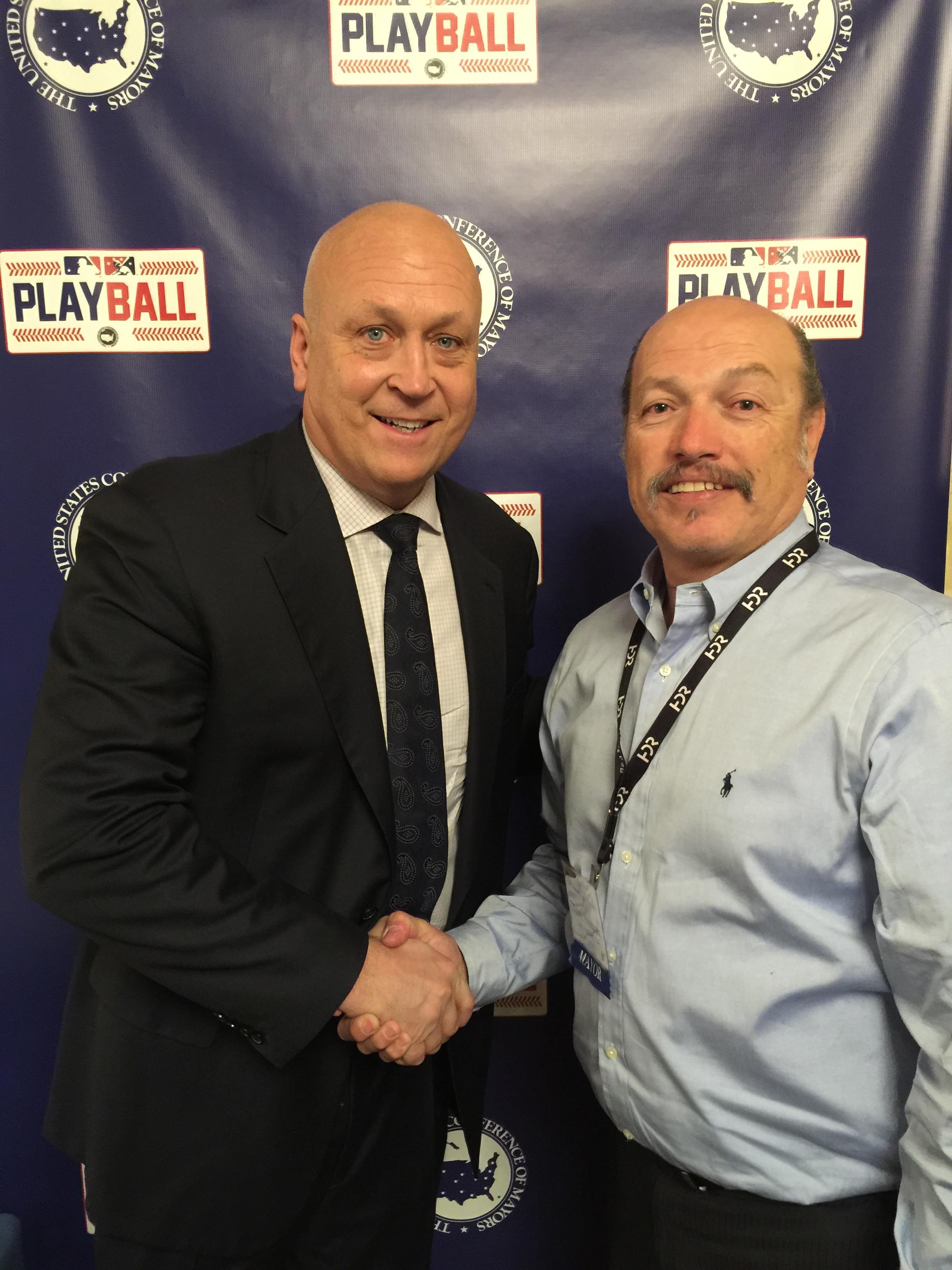 Tony with hall of famer Cal Ripken Jr.