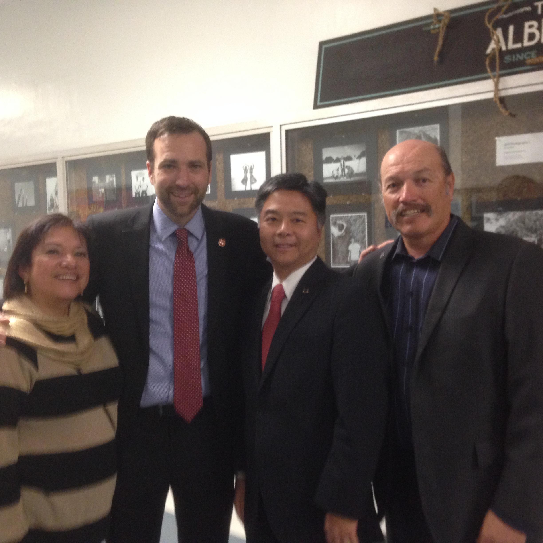 Tony with School Board member Maria Leon Vazquez, Senator Ben Allen, and Congressman Ted Lieu