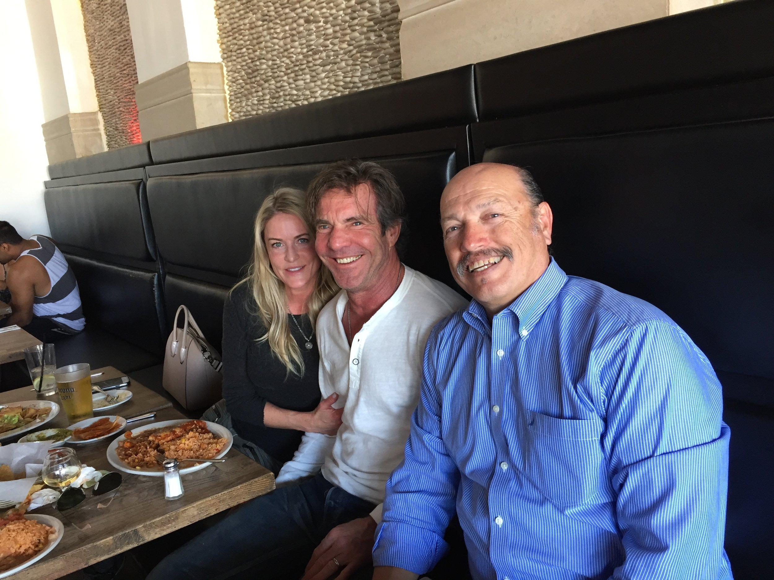 Mayor Tony Vazquez greeting actor Dennis Quad to Santa Monica