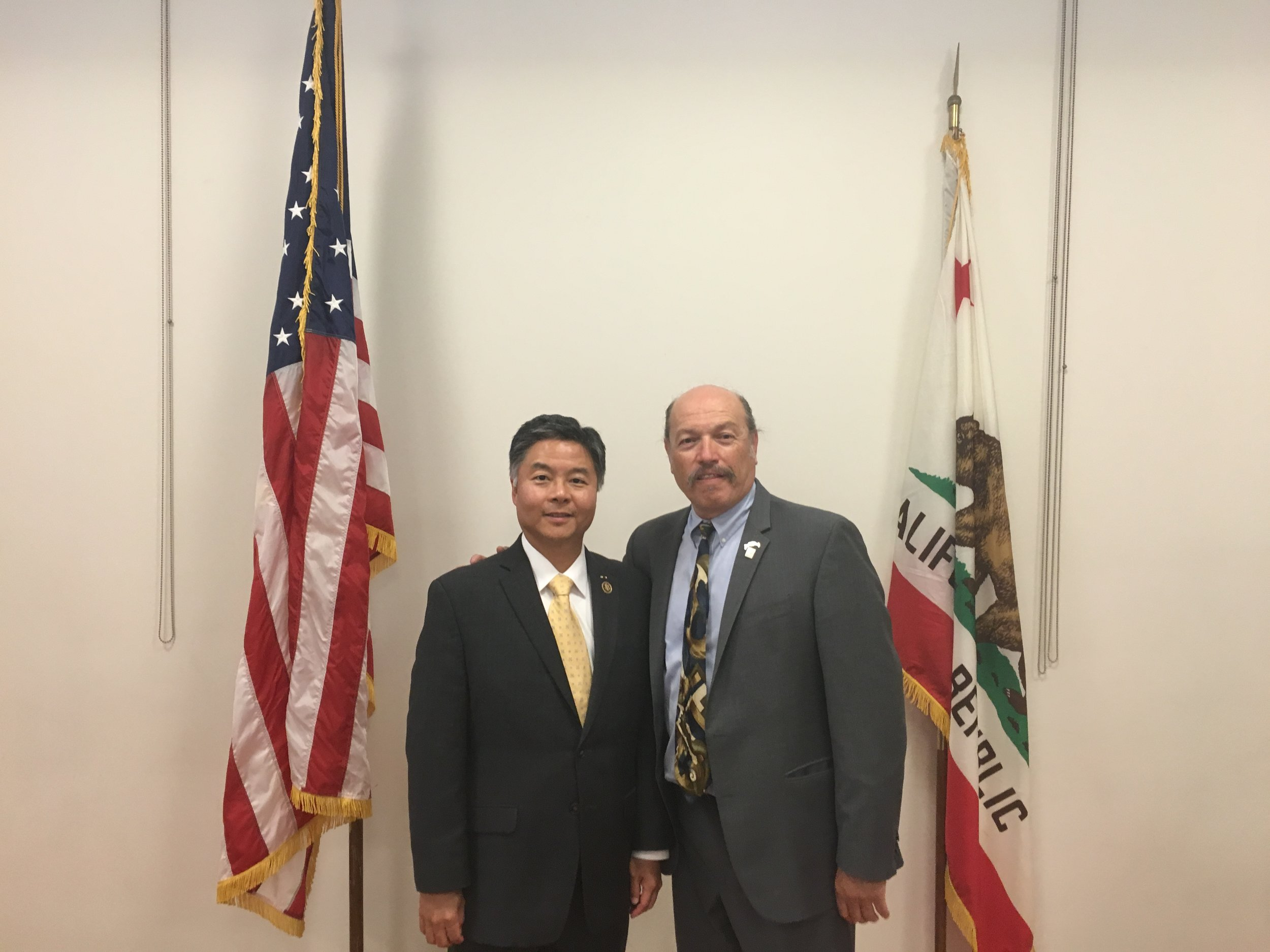 Tony with Congressman Ted Lieu