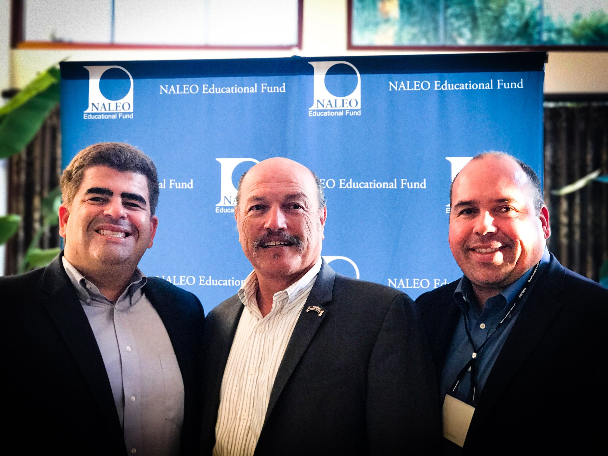 Tony with Los Angeles Community College Board Trustee Members Steve Veres and Gabriel Buelna at the NALEO Conference.