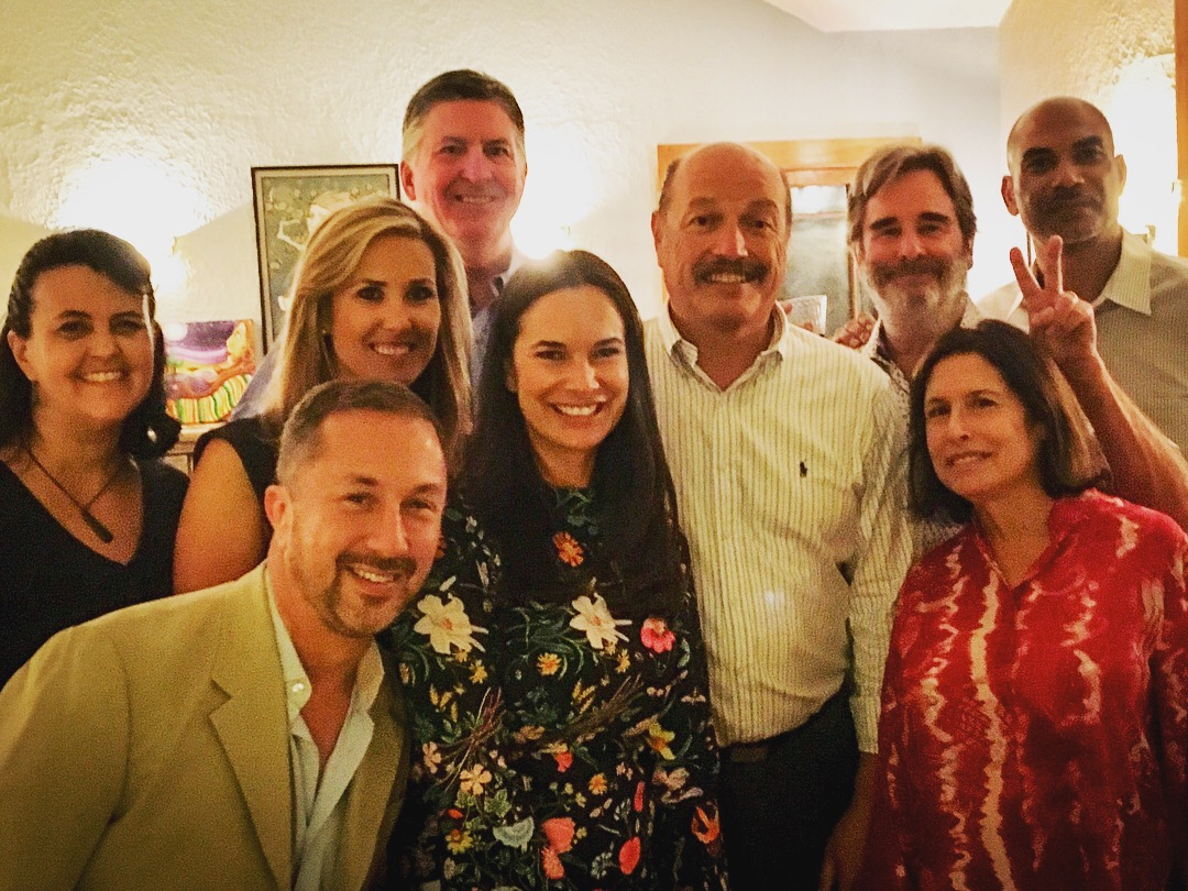 Tony at one of his past fundraisers with Deana Igelsrud, Caroline Torosis, Santa Monica city council member Kevin McKeown, Anastasia Foster, actor Beau Bridges, Santa Monica City council member Sue Himmelrich, and Casey Bridges.