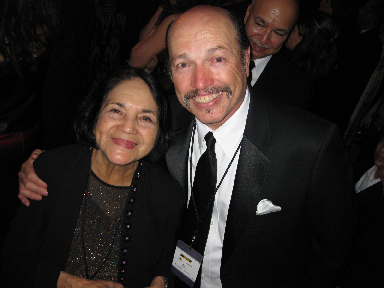 Tony with the Co-Founder of the United Farm Workers Dolores Huerta at President Obama's first Inaugural Latino Gala.