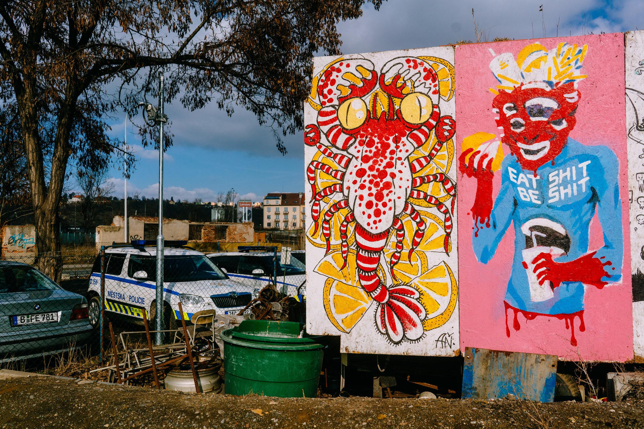 Street art outside the Cross Club