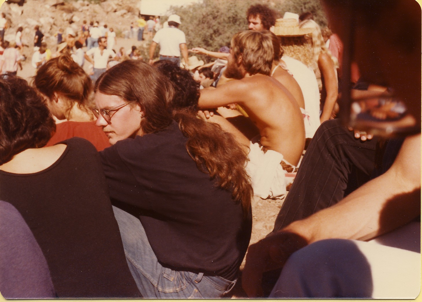 Tracey Lyons (piano, arranger) and Frank Kimbrough (piano), Arcosanti Festival, fall 1977. Photo by Allan Chase.