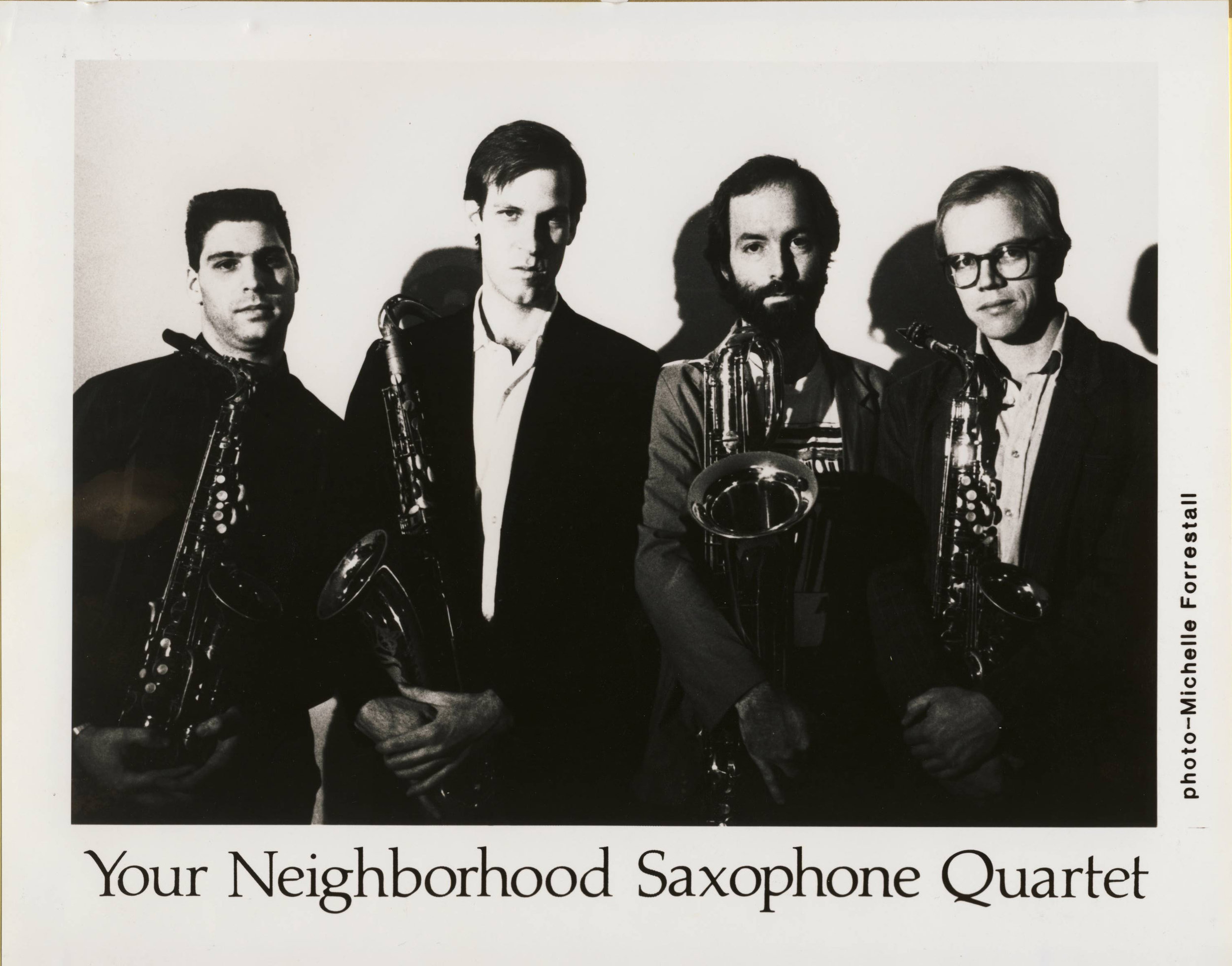 L to R: Ben Schachter, Tom Hall, Steve Adams, Allan Chase, 1987.