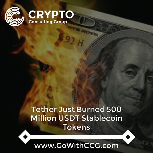 "Shortly before 1:00 p.m. ET Wednesday, Tether, the company behind the dollar-linked stablecoin of the same name, announced via Twitter that it had destroyed 500 million tether (USDT) tokens. . Previously, those tokens were held in an account known as the ""Tether treasury."" The past few weeks have seen massive influxes of USDT to the Treasury, particularly after the cryptocurrency lost parity with the U.S. dollar last week amid questions about Tether's access to banking services. . From Oct. 14, when USDT started to slip below $1.00, to Oct. 23, 680 million USDT were transferred to the company-controlled Treasury wallet. All of these transfers came from an address controlled by Bitfinex, a cryptocurrency exchange that overlaps with Tether in terms of ownership and management. . Bitfinex's cold wallet's balance has fallen by around 100,000 bitcoin since early September, leading some to speculate that the exchange has been spending bitcoin in order to take tether off the market – perhaps to push the exchange rate back towards the $1.00 mark, or perhaps even to exit the stablecoin business entirely. . . . #btc #bitcoin #tether #ether #ethereum #blockchain #crypto #cryptocurrency #eos #ripple #tech #investors #forex #stocks #bonds"