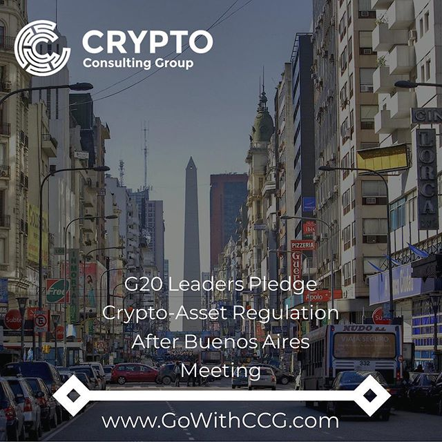 "Leaders from the Group of 20 nations reiterated their pledge to regulate ""crypto-assets"" as part of a communique released Sunday after a meeting in Buenos Aires. . In a declaration titled ""Building consensus for fair and sustainable development,"" the G20 participants committed to a number of measures to help grow the global economy. As in past meetings of group members, the document highlighted cryptocurrencies as one area in need of greater regulation. . ""We will regulate crypto-assets for anti-money laundering and countering the financing of terrorism in line with FATF standards and we will consider other responses as needed,"" the document stated. . . . #crypto #regulation #g20 #blockchain #taxes #bitcoin #btc #cryptocurrency #cryptotrading #cryptocurrencynews #ethereum #trump #putin #growth #tech #louisville #consulting"