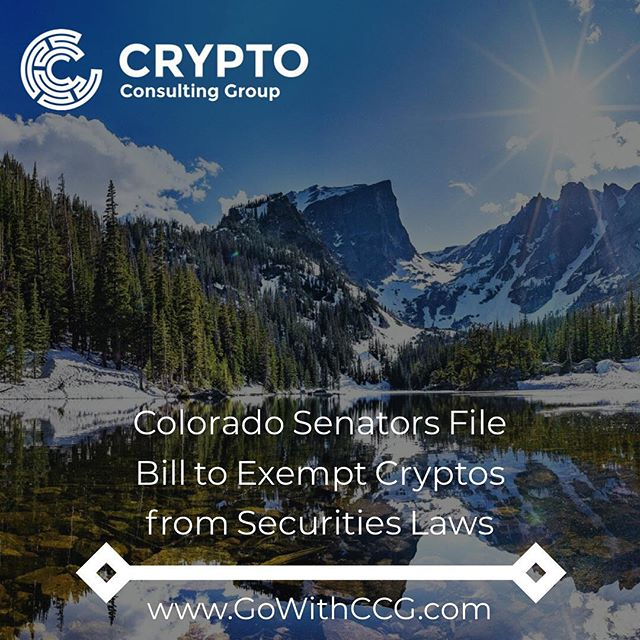 "Two lawmakers from the U.S. state of Colorado have introduced legislation seeking to exempt cryptocurrencies and certain digital tokens from securities laws. . On Friday, senators Stephen Fenberg (Democrat) and Jack Tate (Republican) jointly filed a bill dubbed the ""Colorado Digital Token Act,"" proposing that digital tokens with a ""primarily consumptive"" purpose should be exempted from securities laws provided they are not marketed for ""speculative or investment"" purposes. . The move is aimed to remove ""regulatory uncertainty"" that could hold back firms offering marketplaces for tokens and others aiming to fundraise using crypto assets. . . . #cryptocurrency #cryptotrading #cryptocurrencynews #bitcoin #btc #eth #ethereum #blockchain #news #trading #investing #securities #sec #cftc #regulation #colorado #crypto"
