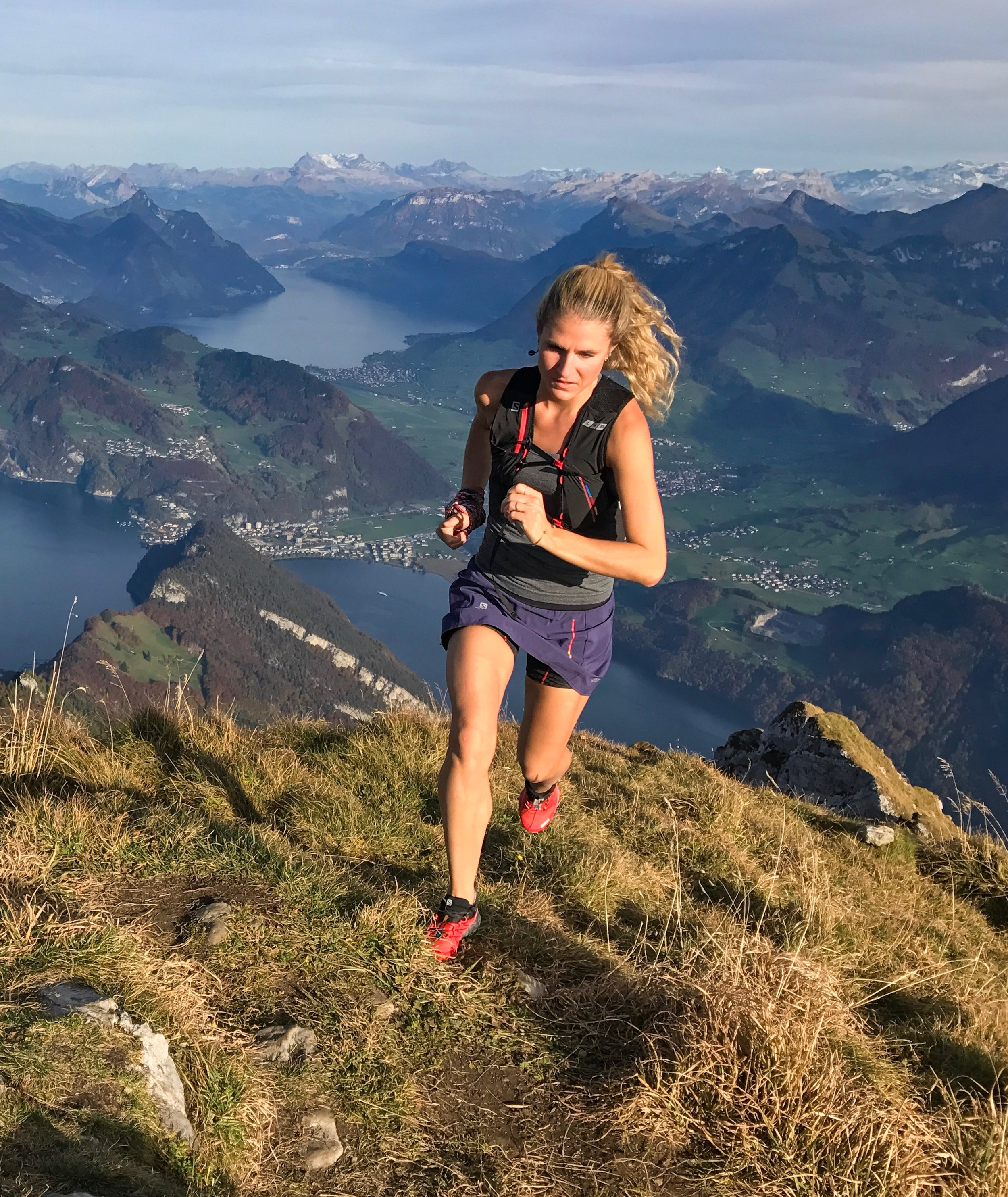 Running on Mt Pilatus, Switzerland