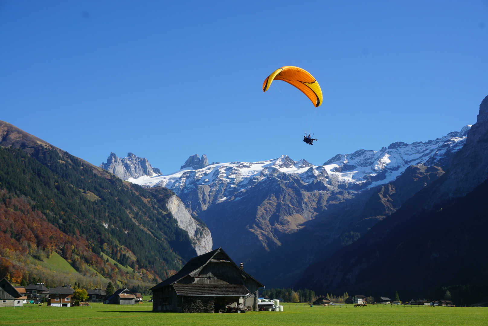 Paragliding in Engelberg, Switzerland