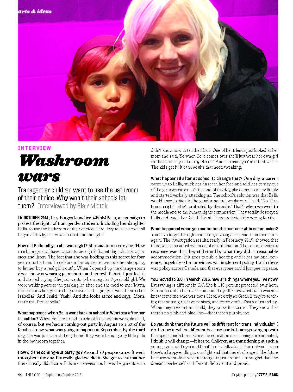 This Magazine - Washroom Wars: In conversation with Izzy Burgos