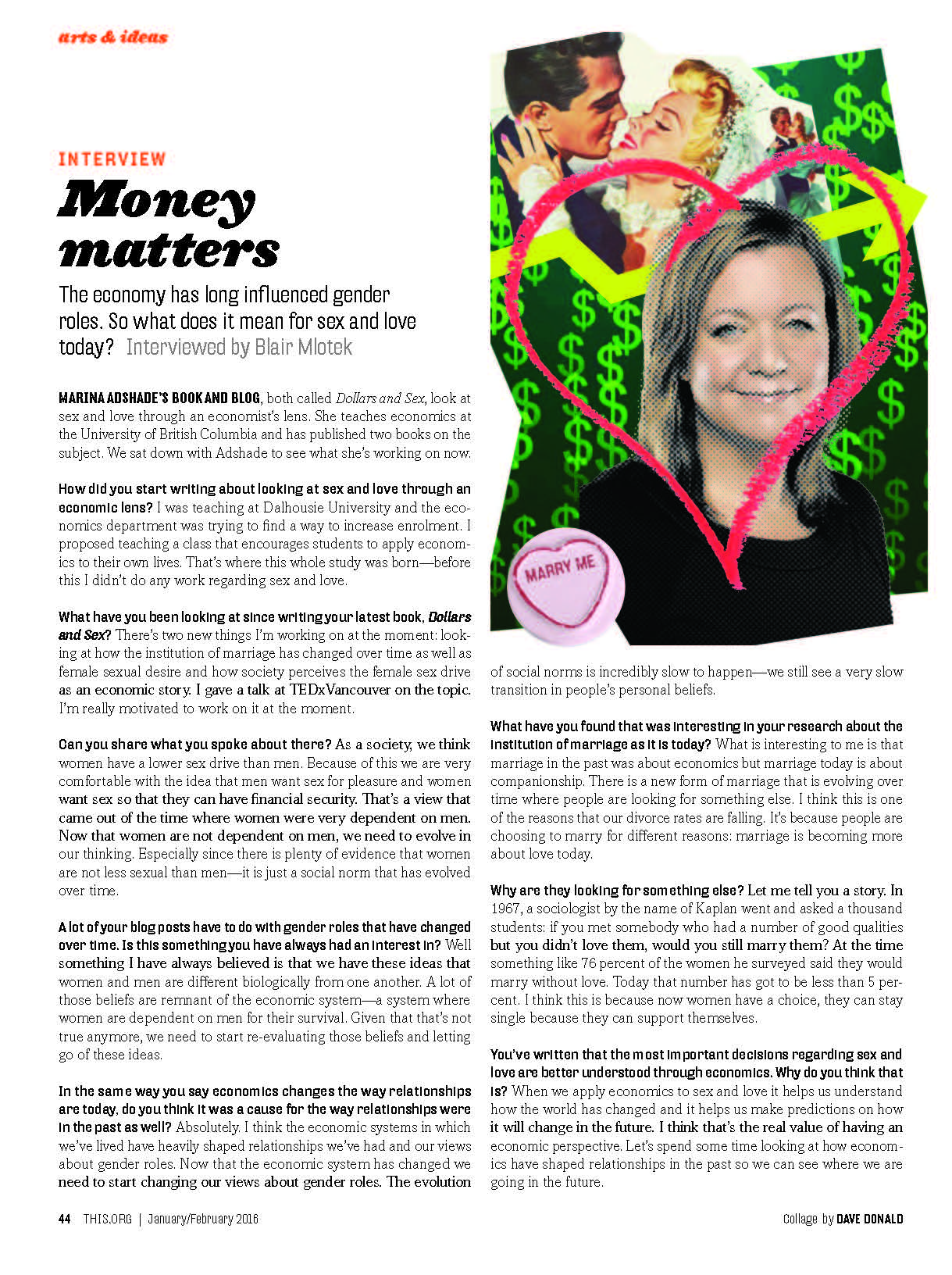 this magazine - Money Matters:In conversation with Marina Ashade