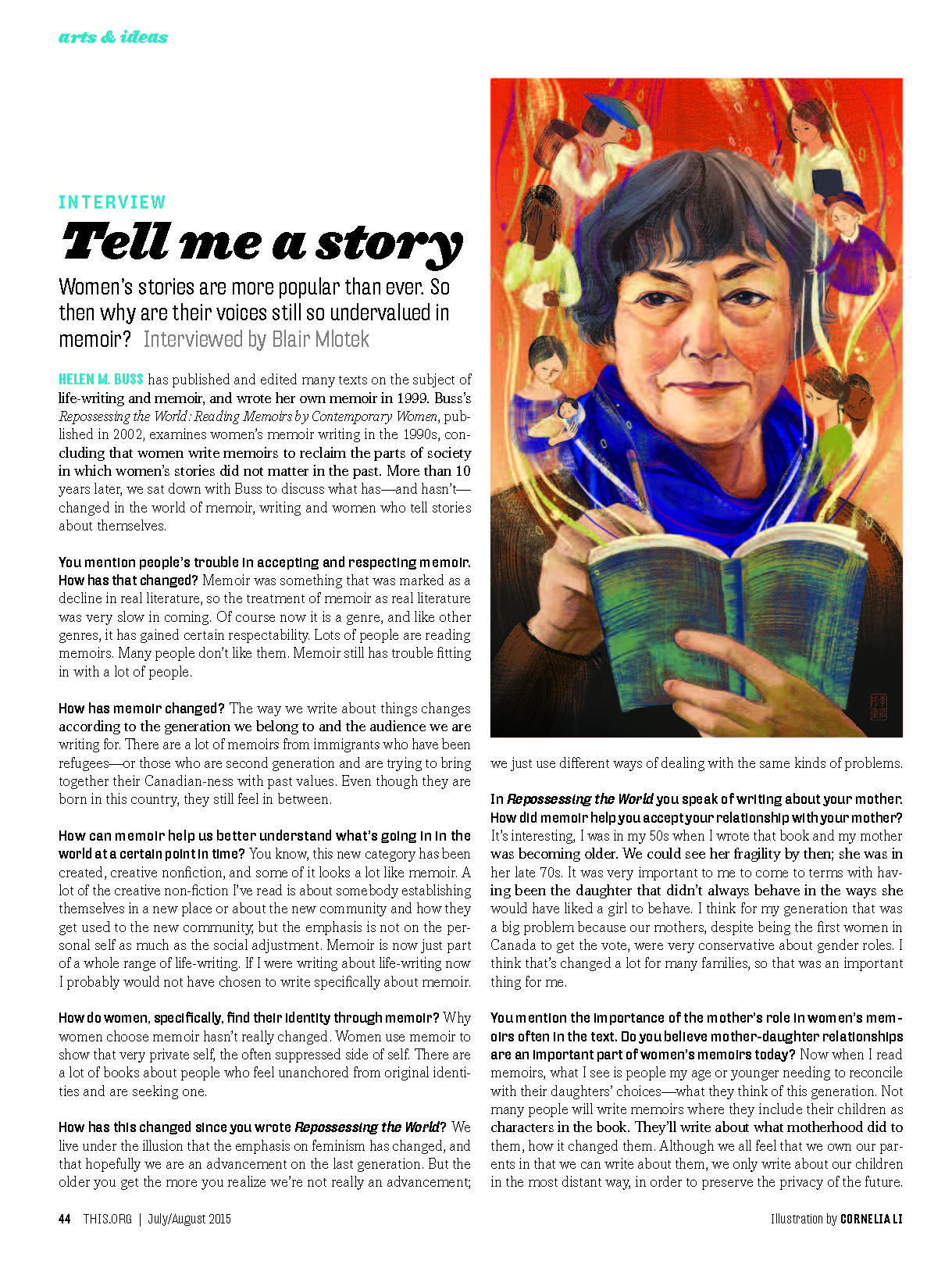 this magazine  - Tell Me a Story: In Conversation with Helen M. Buss