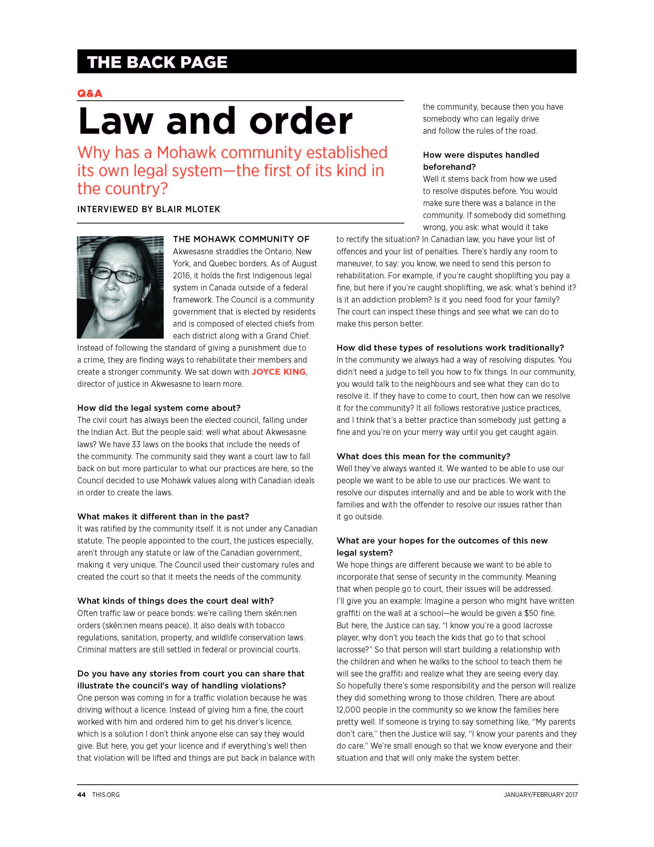 this magazine - Law and Order