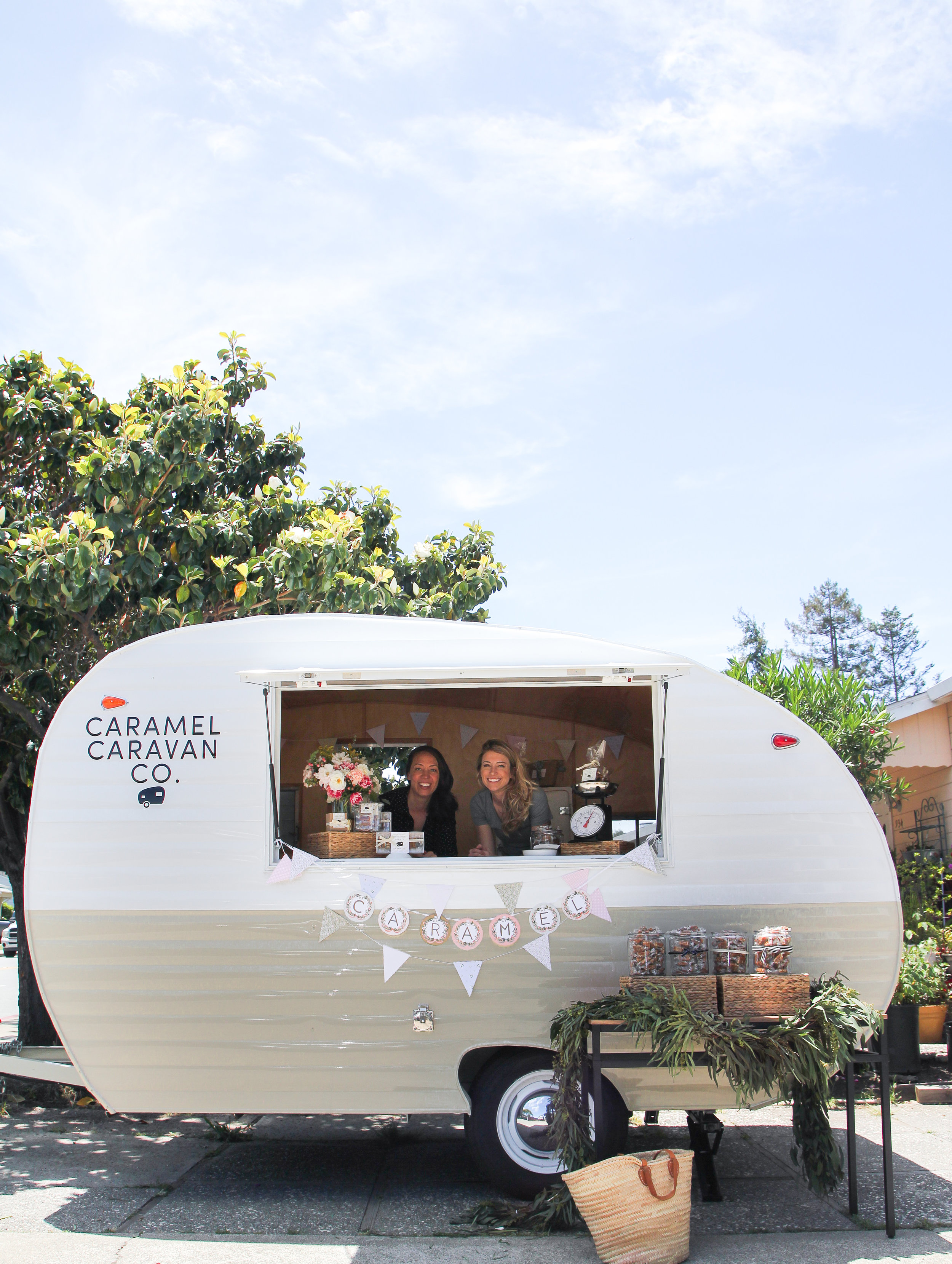 caramel caravan trailer