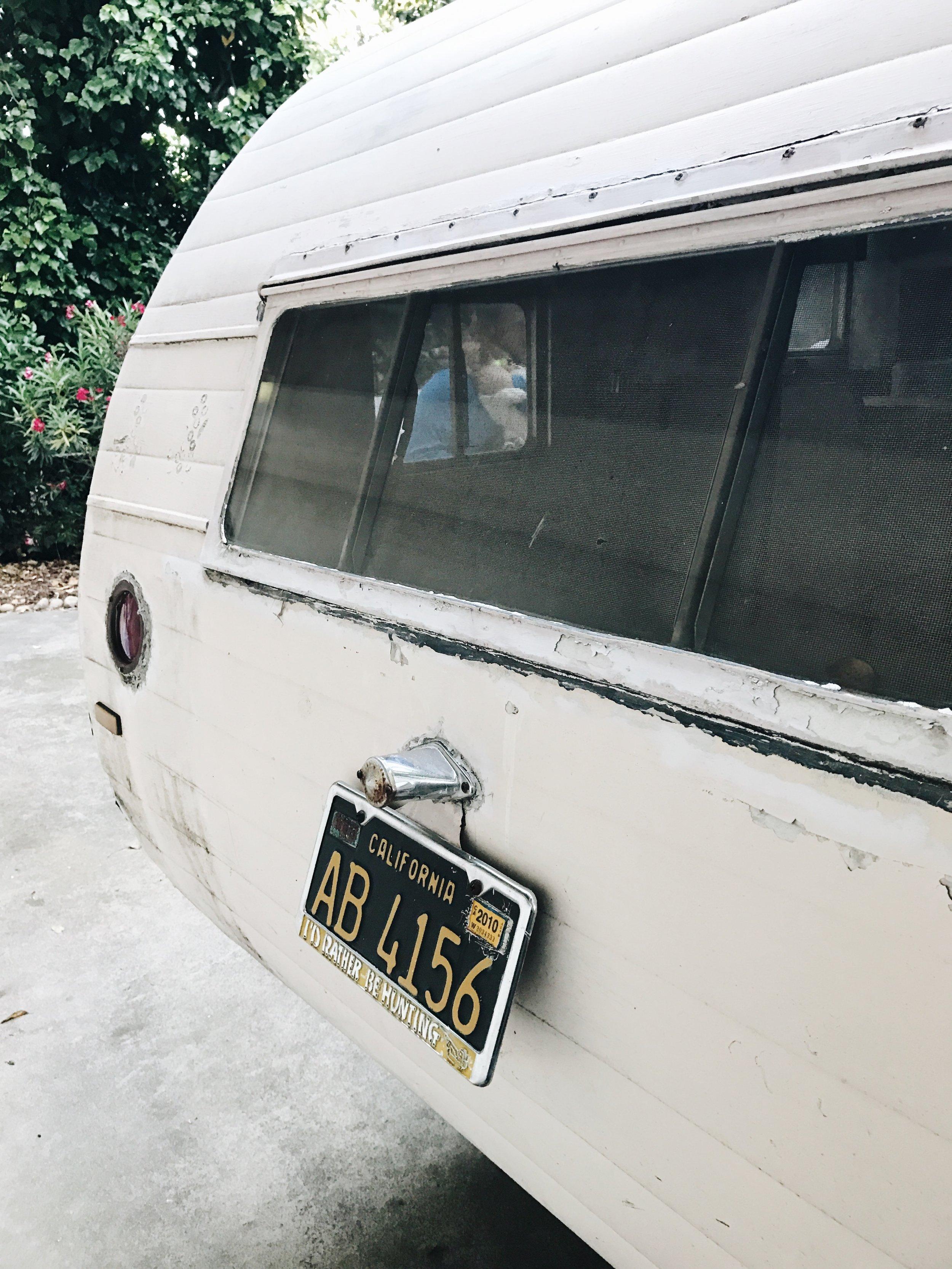 vintage trailer rear