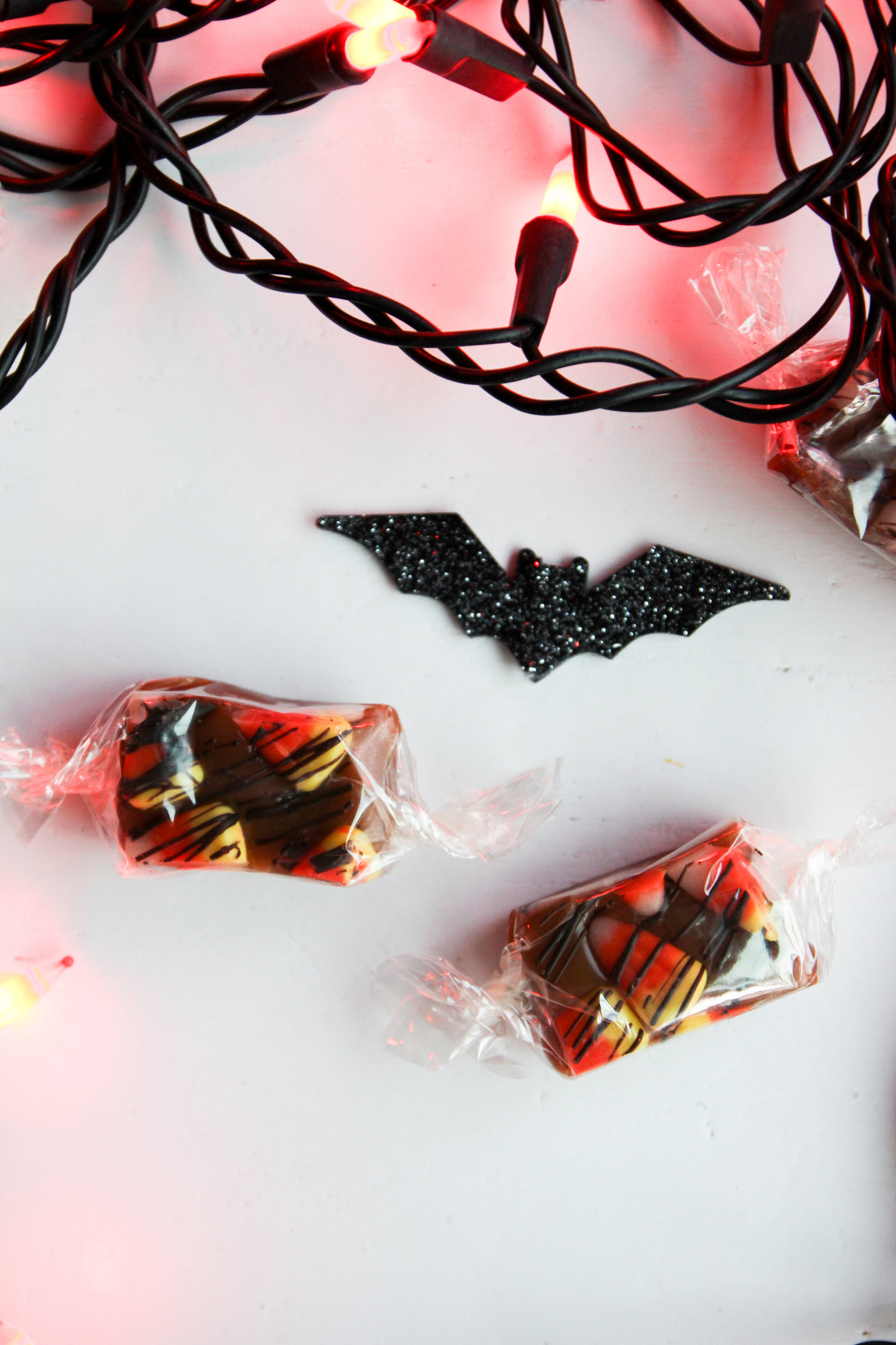 halloween candy corn caramels