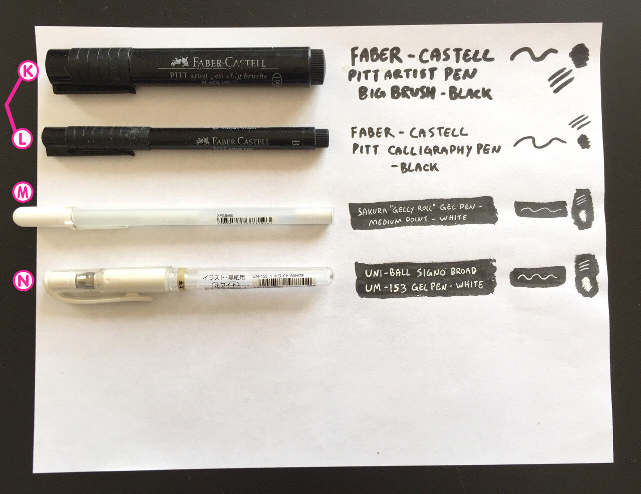 More Inking Pens! - K Faber-Castell Pitt Artist Pen: Big BrushThey're a lot more useful, even though the tips will wear down fast. Great for filling in large areas of ink, or if you need a really large solid line for something. I always have trouble finding these in stores and I've never been sure why. I guess they're very popular and sell out often?((Available here))