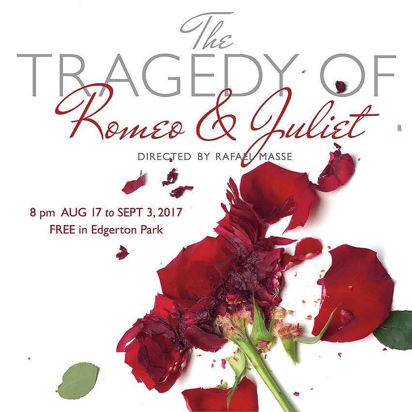 Elm Shakespeare Presents: Romeo and Juliet! - Big things are happening!! I am proud to announce I will be playing Paris in Elm Shakespeare's production of Romeo and Juliet! -- The first of (hopefully) many Regional Theater gigs!For more info checkout http://www.elmshakespeare.org/