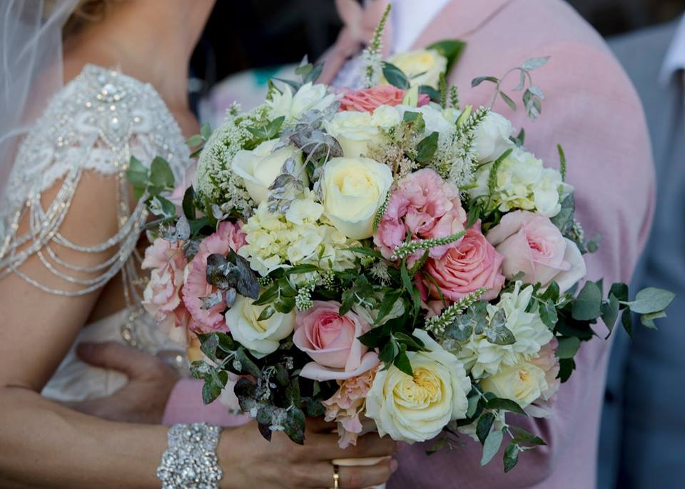 The stunning bouquet by Flower Temple. www.flowertemple.com.au    Shiloh and TJ's wedding at the Prince Hotel, January 2019.    Photography by Kim Jane www.kimjane.com.au