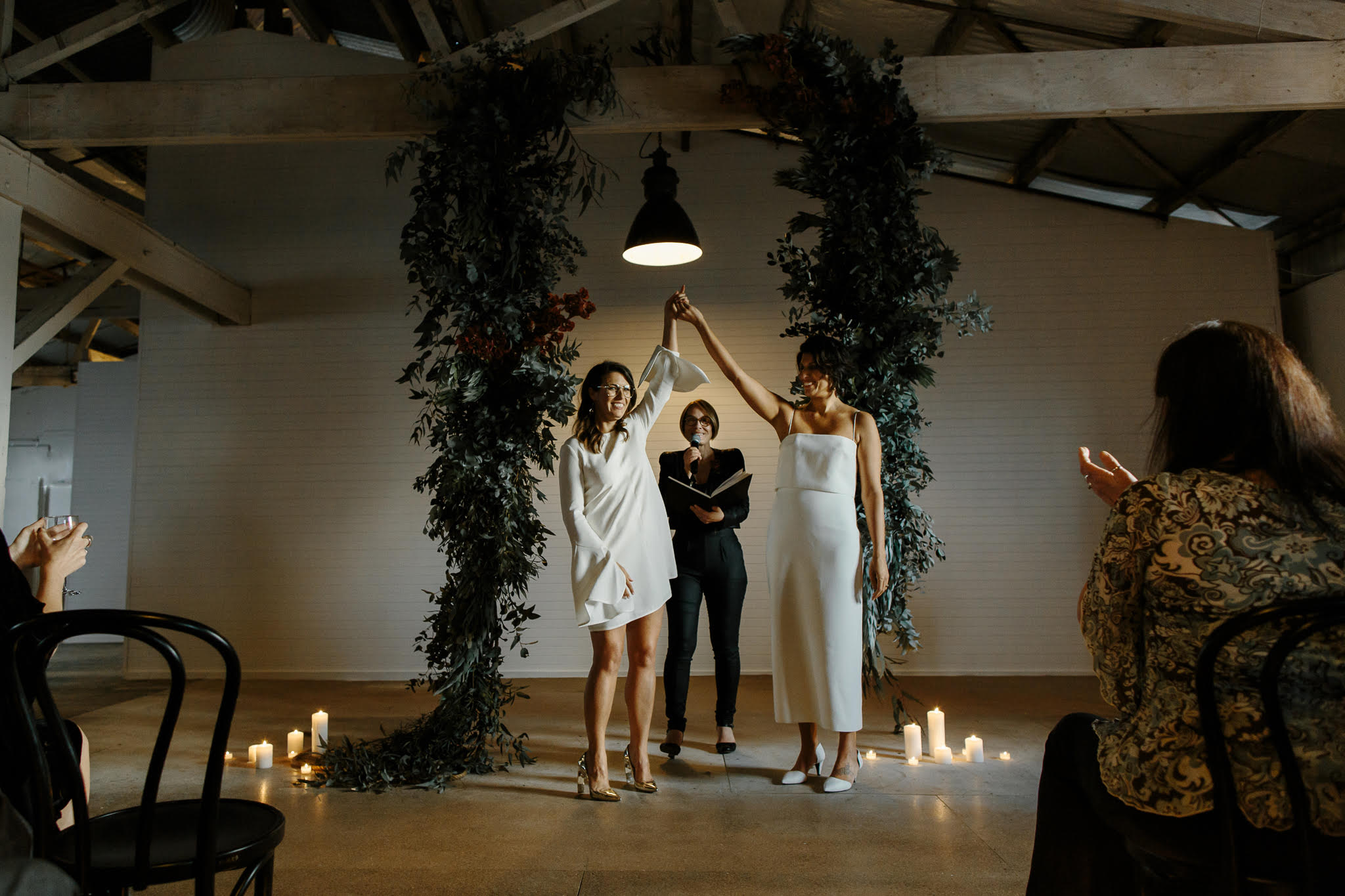 Anna and Anna's wedding at Gather and Tailor, August 2018.    Photography by Oli Sansom www.olisansom.com