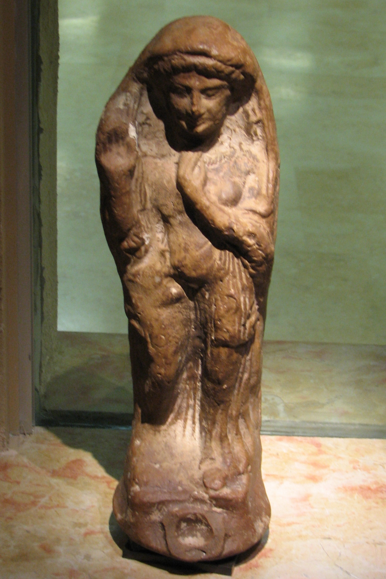 A figurine depicting the goddess Tanit from the Reuben and Edith Hecht Museum in Israel