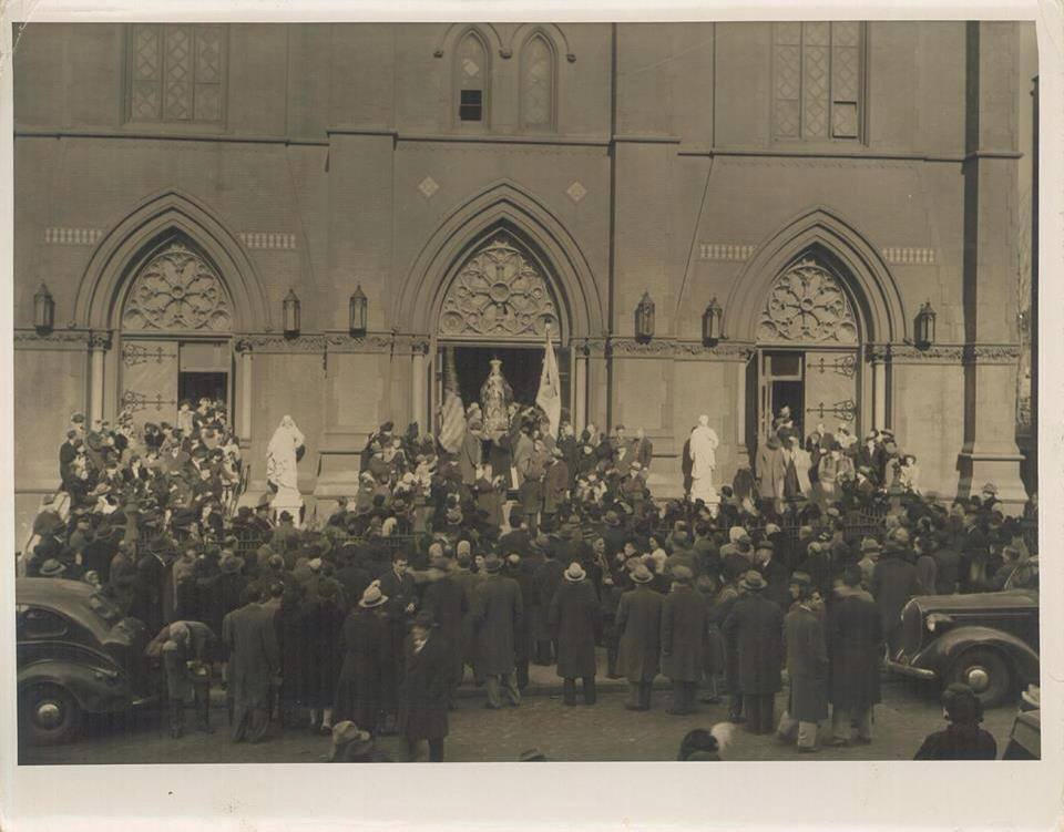 The feast of Maria SS Addolorata at Sacred Hearts-St Stephens Church in Carroll Gardens, Brooklyn