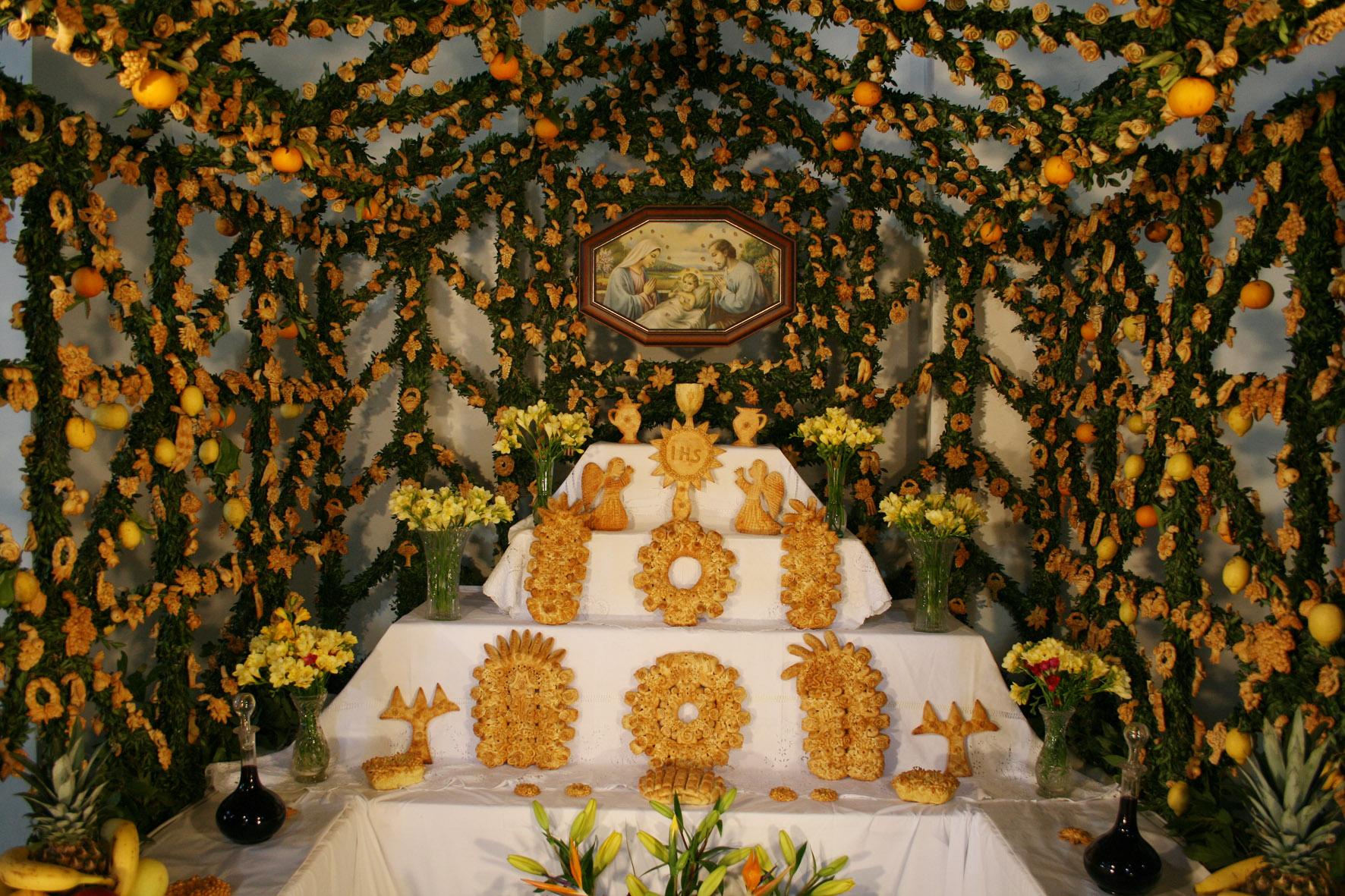 An altar to San Giuseppe in Salemi, Sicily.